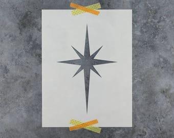 Starburst Stencil - Reusable DIY Craft Stencils of a Starburst