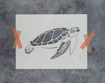 Sea Turtle Stencil - Reusable DIY Craft Stencils of a Sea Turtle