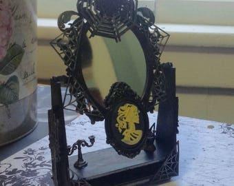 Gothic Mirror Mixed Media Altered Art Fantasy