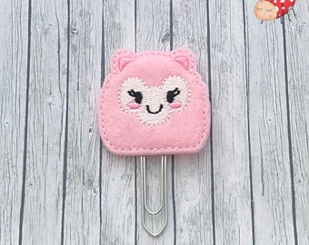 Llama planner clip, paperclip, office supplies, paperwork, planner, organiser accessory, study, felt, embroidered, gift, journal