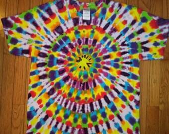 L Bullseye tie dye t-shirt