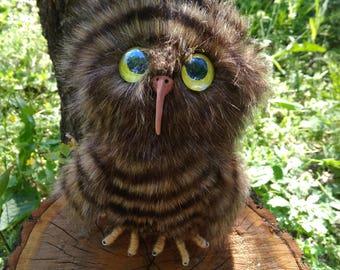 Stuffed Owl Toy Stuffed owl Plush Owl Toy Animal Plush Toy Kawaii Miniature Tiny Plush Owl Artificial fur Baby Gift Gift Owl  Mother's day
