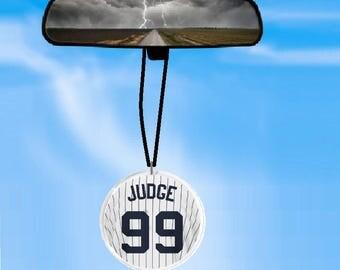 JUDGE JERSEY car rearview mirror ornament - car ornament - car charm - BASEBALL accessory - as seen everywhere