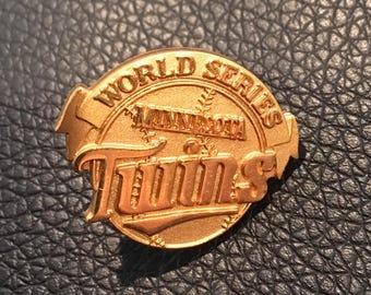 Minnesota Twins vintage World Series press pin by Jostens