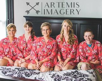 Set of 5  Bridesmaids Robes, Bridesmaid Gift, Gift for Bridesmaid, Robe for Bridesmaid, Bridesmaid Robe, Bridal Party Robe