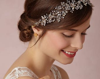Silver Wedding Hair Piece / Wedding Headband