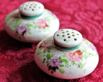 Shabby Chic Vintage Salt & Pepper Shakers