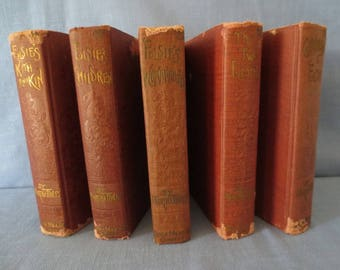5 Antique Book Lot The Elsie Books Collection by Martha Finley