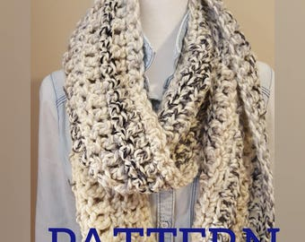 Chunky Crochet Extra Long Textured Scarf Pattern- Easy to Follow