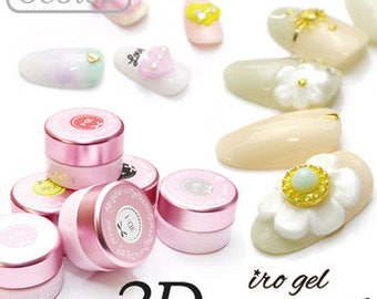 NEW! 3D Cream Gel by iro gel laove nail x6 colours available or WHOLE SET