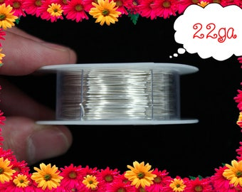 22ga 60ft Silver Wrap Wire, Silver Wrapping wire, Silver Beading wire, Silver Jewelry Wire,