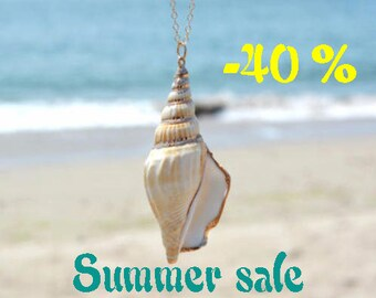 SUMMER SALE / / / Beach shell necklace