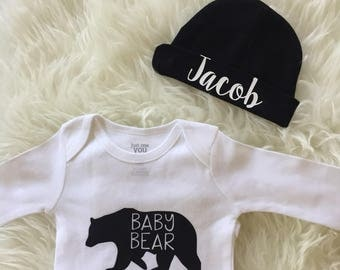 newborn boy outfit baby boy coming home outfit personalized baby boy clothes gift brothers toddler boy clothes with options