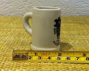 Vintage beer mug, jug, stone jug, miniature, dollhouse accessoires, decoration