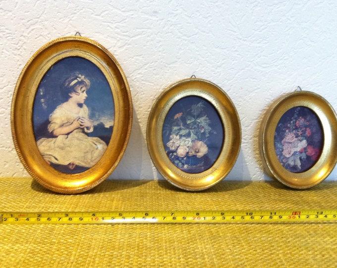 Vintage 3 Pieces Picture Frames beautiful
