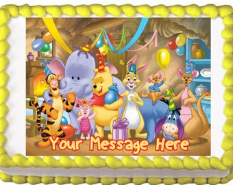 Winnie the Pooh and Friends Party Edible Decoration Cake Topper