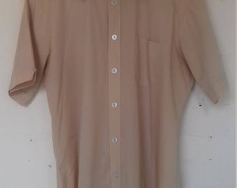 Men's beige short sleeved shirt  M/L