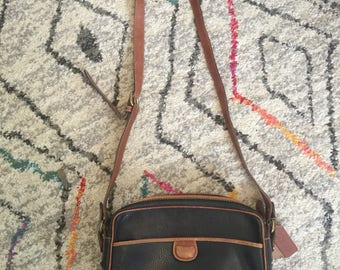 Vintage Coach Leather Made in Italy Crossbody Purse