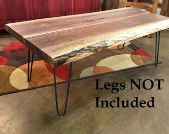 Live Edge Walnut Coffee Table Top | Thick Walnut Coffee Table | Black  Walnut Live Edge