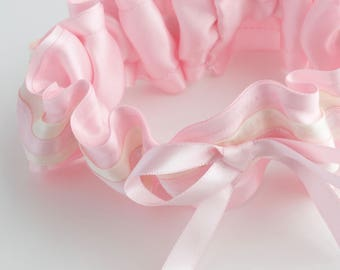 Cotton Candy pink garter