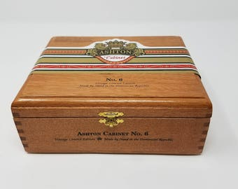 Wooden Cigar Box, Ashton Cabinet, No. 6