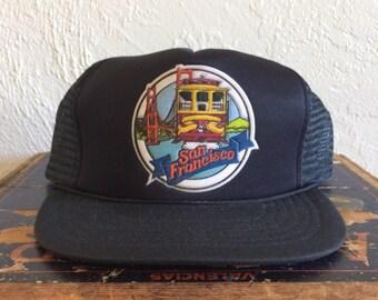 Vintage San Francisco Tourist Mesh Trucker Hat
