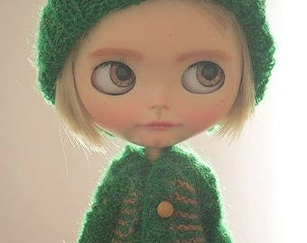 FREE SHIPPING - Set for Blythe doll, Knitwear for Blythe, Sweater and cap for Blythe doll
