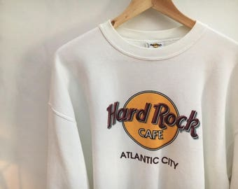 Hard Rock Cafe Atlantic City Sweatshirt in White