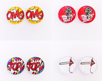 The 'Pop Art Collection' Glass Earring Studs