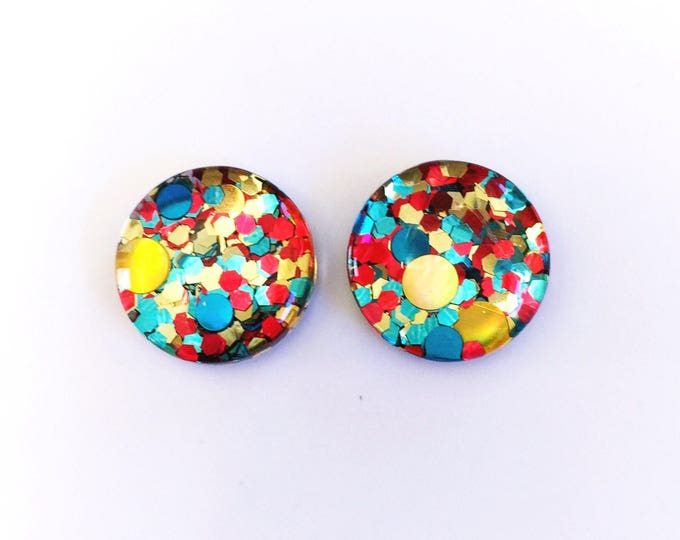 The 'Circus' Glass Earring Studs