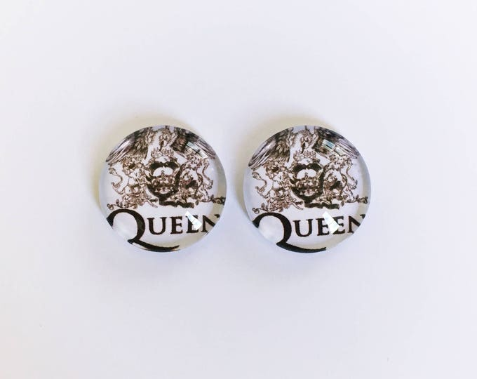 The 'Queen' Glass Earring Studs