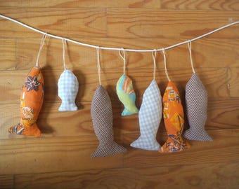 Fabric hanging fish
