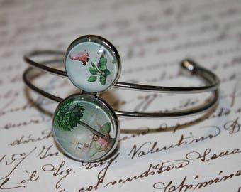 "Bracelet double cabochon glass ""Wonderland"""