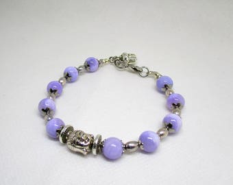 Beautiful Tibetan Buddha gemstone bracelet.