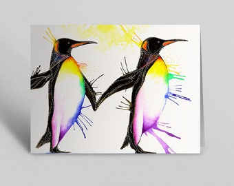 Penguins Greetings Card