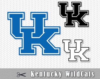 Kentucky WildCats Logo Layered SVG Dxf Logo Vector File Silhouette Studio Cameo Cricut Design space Template Stencil Vinyl Decal Craft