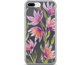 Purple Flowers iPhone Case iphone 6 case, iphone 7 case, iPhone 8 case, iphone 7 plus case, iPhone X case, iphone 8 plus