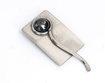 Vintage silver brooch, Mid century modern, vintage jewellery, retro brooch, ladies brooch, vintage jewelry, gift, brooch, Christmas gift