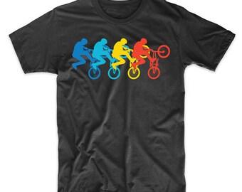 BMX Rider Retro Pop Art BMX Graphic T-Shirt