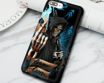 Skull magician Print Phone Case for Iphone 6 6S 6 Plus 6S Plus 7 7 Plus phone Case / Samsung Galaxy S6 S6 edge S7 S7 dge S8