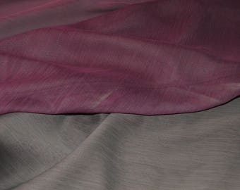 "Taupe & Mauve Reversible Crinkle Chiffon Fabric 59"" Wide"