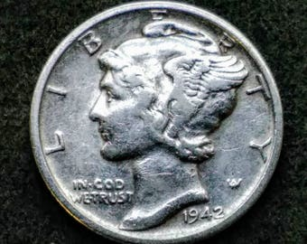 1942 Silver Dime Great condition