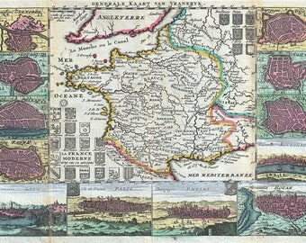 Antique US Map Historic Cartography By John Wallis - John wallis map of the us