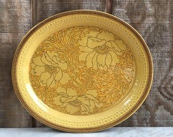 Vintage Franciscan Amapola Earthenware Large Oval Floral Serving Platter