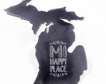 Engraved Michigan Magnet