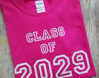 Class of 2029 Shirt, School Shirt, Graduation Year Shirt, Gift for First Grader, First 1st Day of School T Shirt, Any Year Grad