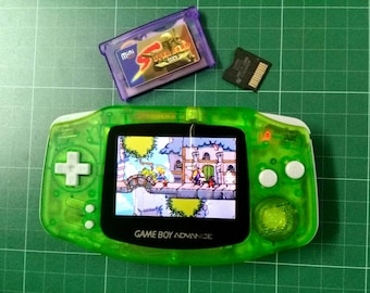 Backlit Mod Nintendo Game Boy Advance Clear Green-AGS101 Backlight Glass Lens