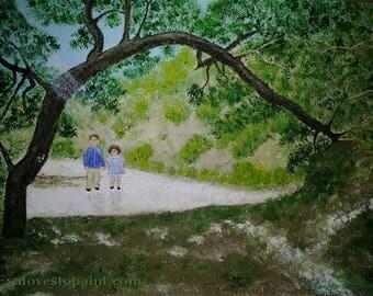 Walk through paradise garden