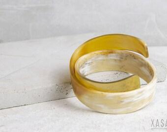 "Wrap look cuff bracelet ""Clean Edge"" 2 color variations"