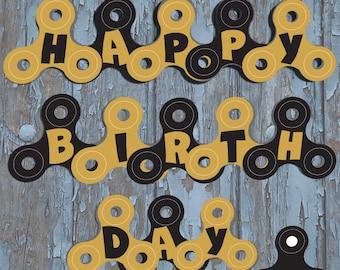 fidget spinner party, fidget spinner birthday, fidget spinner, fidget spinner birthday banner, custom fidget spinners, party supplies, print